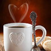 Valentine's Day Coffee Print by Amanda Elwell