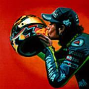 Valentino Rossi Portrait Print by Paul Meijering