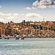 Port Of Valleta Print by Maria Coulson