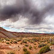 Valley Of Fire With Dramatic Sky Print by Jane Rix