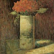 Vase Of Flowers Print by Georges Seurat