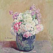 Vase Of Flowers Print by Henri Lebasque