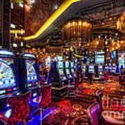 Vegas Slot Machines Print by Yhun Suarez