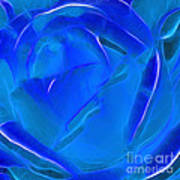 Veil Of Blue Print by Kaye Menner