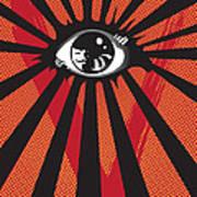 Vendetta2 Eyeball Print by Sassan Filsoof