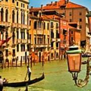 Venice Street Lamp Print by Mick Burkey