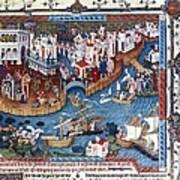 Venice. The Dock Of St. Mark Print by Everett