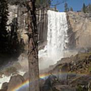 Vernal Falls With Rainbow Print by Jane Rix