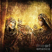 Veronica Wipes His Face Via Dolorosa 6 Print by Lianne Schneider
