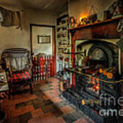 Victorian Fire Place Print by Adrian Evans