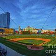 Victory Field Home Plate Print by David Haskett