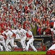Victory - St Louis Cardinals Win The World Series Title - Friday Oct 28th 2011 Print by Dan Haraga