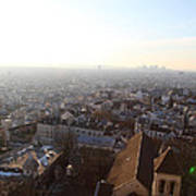 View From Basilica Of The Sacred Heart Of Paris - Sacre Coeur - Paris France - 011316 Print by DC Photographer