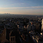 View From Basilica Of The Sacred Heart Of Paris - Sacre Coeur - Paris France - 011319 Print by DC Photographer