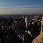 View From Basilica Of The Sacred Heart Of Paris - Sacre Coeur - Paris France - 011321 Print by DC Photographer