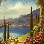 Villa Rosa Print by Evie Cook