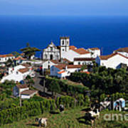 Village In Azores Islands Print by Gaspar Avila