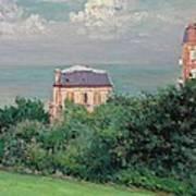 Villas At Villers-sur-mer Print by Gustave Caillebotte