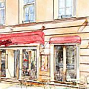 Vilnius Windows 3 Print by Yury Malkov