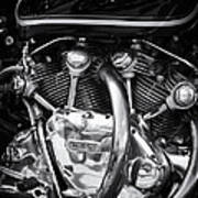 Vincent Engine Print by Tim Gainey