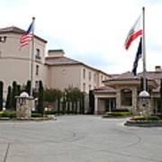 Vineyard Creek Hyatt Hotel Santa Rosa California 5d25787 Print by Wingsdomain Art and Photography