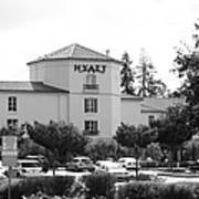 Vineyard Creek Hyatt Hotel Santa Rosa California 5d25866 Bw Print by Wingsdomain Art and Photography