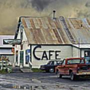 Vintage Alaska Cafe Print by Ron Day
