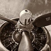 Vintage B-17 Print by Adam Romanowicz
