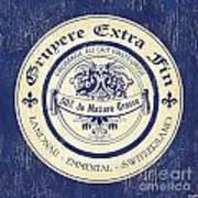 Vintage Cheese Label 5 Print by Debbie DeWitt