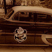 Vintage Classic D.a.r.e. Police Car Print by Thomas  MacPherson Jr