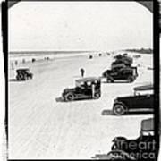 Vintage Daytona Beach Florida Print by Edward Fielding
