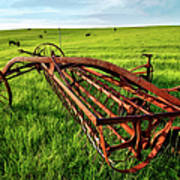 Vintage Farm Equipment II - Blue Ridge Print by Dan Carmichael