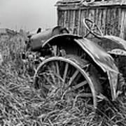 Vintage Farm Tractor Print by Theresa Tahara