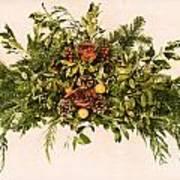 Vintage Floral Arrangement Print by Olivier Le Queinec