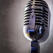 Vintage Microphone 2 Print by Scott Norris