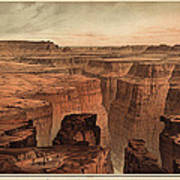 Vintage Print Of The Grand Canyon By William Henry Holmes - 1882 Print by Blue Monocle