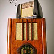 Vintage Radios Print by Carlos Caetano