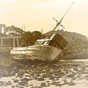 Vintage Shipwreck  Print by Artist and Photographer Laura Wrede