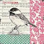 Vintage Songbird 3 Print by Debbie DeWitt