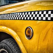 Vintage Yellow Cab Print by John Farnan