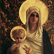 Virgin And Child Print by Antoine Auguste Ernest Herbert