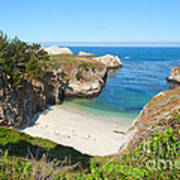 Vista Of China Cove At Point Lobos State Reserve California Print by Artist and Photographer Laura Wrede