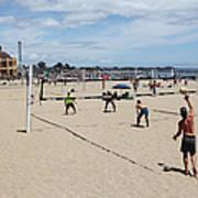 Volleyball At The Santa Cruz Beach Boardwalk California 5d23837 Print by Wingsdomain Art and Photography