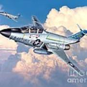 Voodoo In The Clouds - F-101b Voodoo Print by Stu Shepherd
