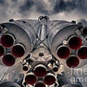 Vostok Rocket Engine Print by Stelios Kleanthous