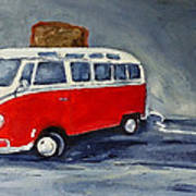 Vw Bus Toaster Print by Sunny Avocado