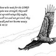 Wait For The Lord Print by Janet King