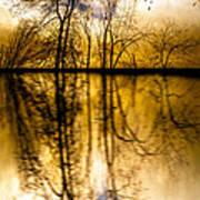 Walk Along The River Print by Bob Orsillo