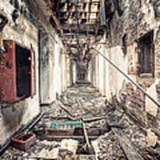 Walk Of Death - Abandoned Asylum Print by Gary Heller