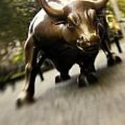 Wall Street Bull Print by Tony Cordoza